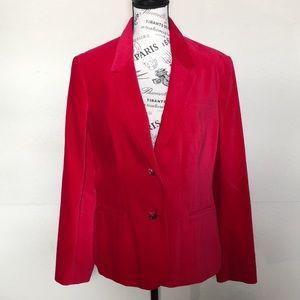 Classic Fashions velvet red blazer Sz 14
